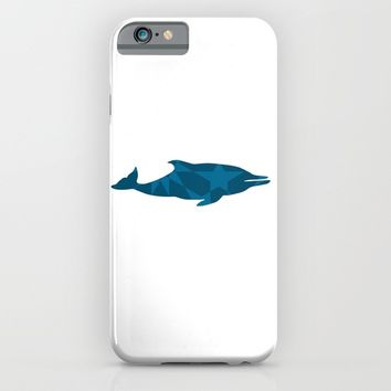 DOLPHIN SILHOUETTE WITH PATTERN iPhone & iPod Case by deificus Art