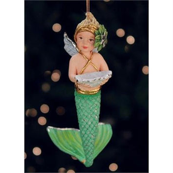 "Tropical Christmas Ornament -  "" Mer-baby """