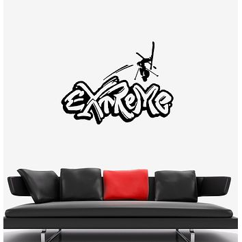 Wall Decal Sport Extreme Winter Skiing Snow Vinyl Sticker (ed1329)