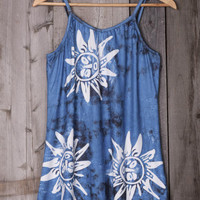 Get Loose Flower Printing Slip Mini Dress