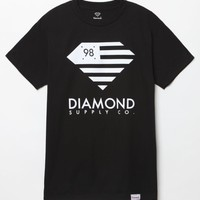 Diamond Supply Co DMND Flag T-Shirt - Mens Tee - Black