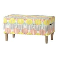 Upholstered Storage Bench (Stroke Cell Pastel)