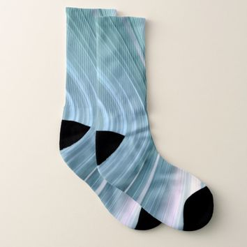 Aqua Turquoise Teal Driving Dreams Socks