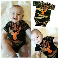 2016 Cotton Baby Boy Clothes Camo Jumsuit Bodysuit Outfits One-pieces