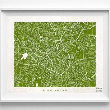 Birmingham Print, England Print, Birmingham Poster, England Map, Decor Idea, Home Town, Office Decor, Dorm Decor, Halloween Decor