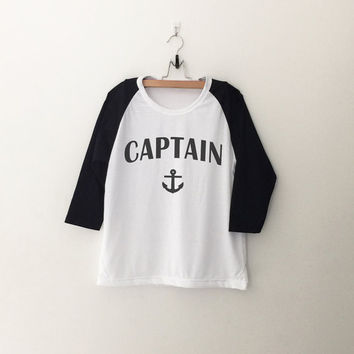 Captain Anchor T-Shirt womens girls teens unisex grunge tumblr instagram blogger punk dope swag hype hipster gifts merch
