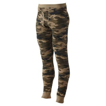 Croft & Barrow Camouflage Thermal Underwear Pants - Men