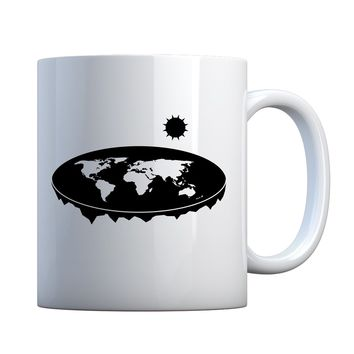 Mug Flat Earth Ceramic Gift Mug