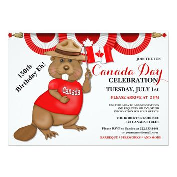 Canada Day 150th Birthday Eh BBQ Celebration Card