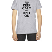 Keep Calm And Knit On - Youth T-shirt