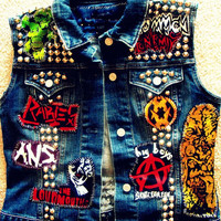 Punk Denim Vest On Sale