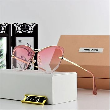 Miu Miu Women Casual Fashion Frameless Spectacles Shades Eyeglasses Glasses Sunglasses
