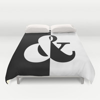 Black & White Duvet Cover by BeautifulHomes | Society6