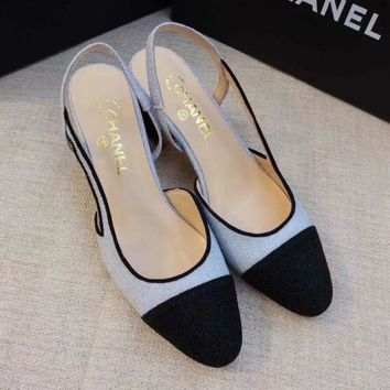 Chanel Women Fashion Sandals Mules Shoes High Heels Shoes