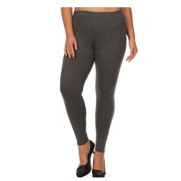 "Your New Favorites! Must Have ""Amazing"" No Peek-a-Boo See Through PLUS Size Charcoal Leggings"