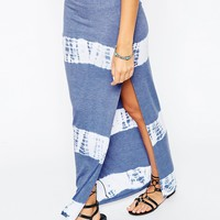 ASOS Maxi Skirt with Tie Dye Stripe at asos.com