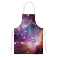 "Suzanne Carter ""Cosmic Cloud"" Celestial Purple Artistic Apron"