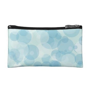 Blue Bubbles Makeup Bag