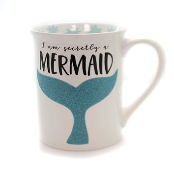 Tabletop Secretly Mermaid Glitter Mug Mug / Coffee Cup