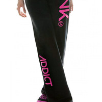 "Women's ""Ink"" Sweatpants by InkAddict (Black/Pink)"