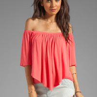 James & Joy Mina Convertible Top in Coral from REVOLVEclothing.com
