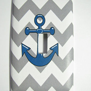 Light Switch Cover - Light Switch Plate Anchor Nautical