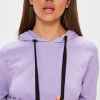 Missguided - Purple Washed Hoodie