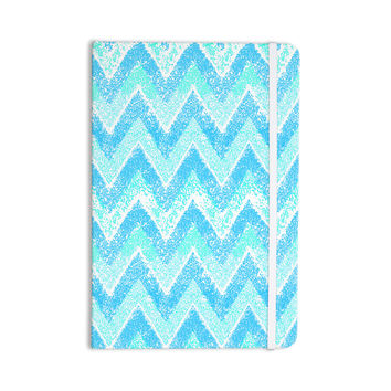 "Marianna Tankelevich ""Mint Snow Chevron"" Blue Chevron Everything Notebook"