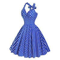 Summer Beach Dress pin up Audrey Hepburn Style 2016 Retro Vintage Plus Size women clothing 50s 60s Big Swing Polka Dot Dresses