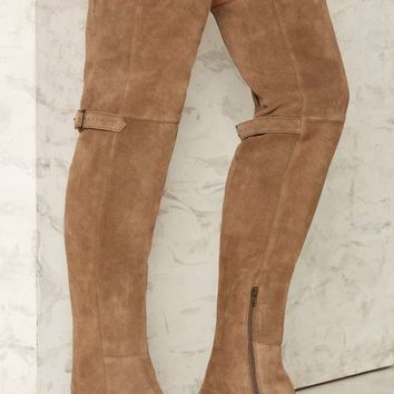 Matisse Ashley Over-the-Knee Suede Boot - Taupe