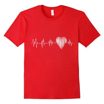 Heart Shaped Heartbeat Valentines Day Nursing EKG T Shirt