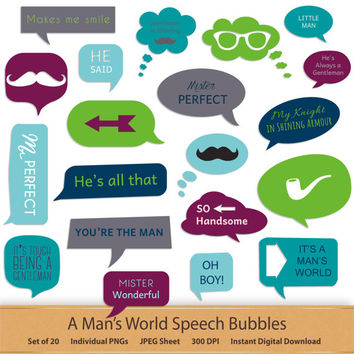 Commercial Use Bubble Clipart Digital Speech Bubbles Word Clip Art Printable Labels Word Art Text Clipart Digital Graphics Digital Stickers