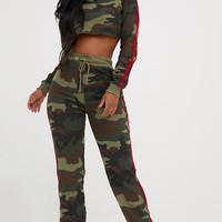Shape Camo Side Stripe Sweater