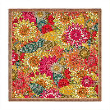 Sharon Turner Sunshine Garden Square Tray