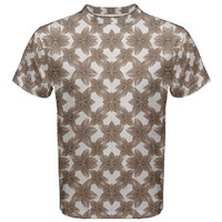 Stylized Leaves Floral Collage Men's Sport Mesh Tee