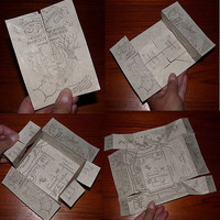 Harry Potter Original Artwork Marauders Map by brittadotcom