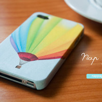 iphone 4 case , iphone 4s case , case for Iphone 4 Blackberry mobile Case handmade: colorful rainbow balloon