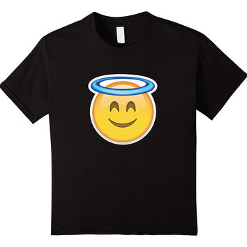 Heaven Angel Ring Smiley Face Emoji T Shirt