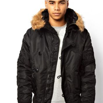 Alpha Industries Cropped Jacket with Hood