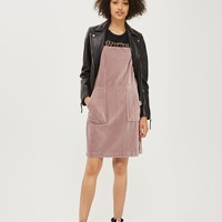 TALL Cord Velvet Pinafore Dress | Topshop