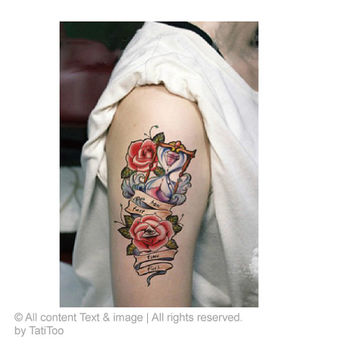 how fast time files - Temporary Tattoo T189