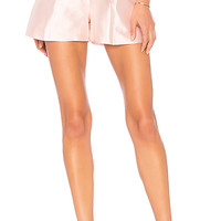 Cynthia Rowley Phoebe Pleated Short in Champagne | REVOLVE