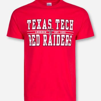 Double Stack Texas Tech Red Raiders Red T-Shirt