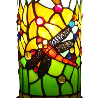 Dragonfly Tiffany Style Mini Table Lamp