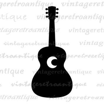 Digital Printable Acoustic Guitar Image Music Graphic Download Artwork Vintage Clip Art Jpg Png Eps  HQ 300dpi No.4313