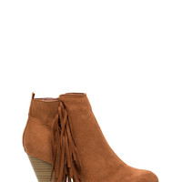 Off The Fringes Faux Suede Booties