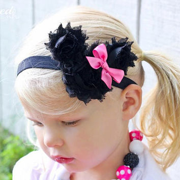 Minnie Mouse Headband with Handmade Bow, Baby, Child, Adult- Any Size