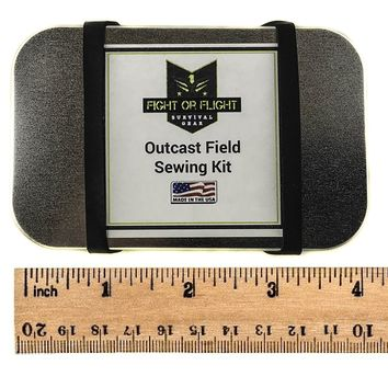 Outcast Outdoor Emergency Sewing Kit with Survival Tin - Rugged, Compact and Made in the USA!