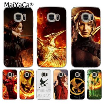 MaiYaCa The Hunger Games movie fire bird Luxury Coque Shell Phone Case  for Samsung S5 S6 S7 Edge S8 Plus S6 Edge Plus S3 S4