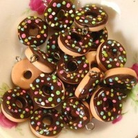 6pcs Donut Colored Sprinkler Collection - Chocolate